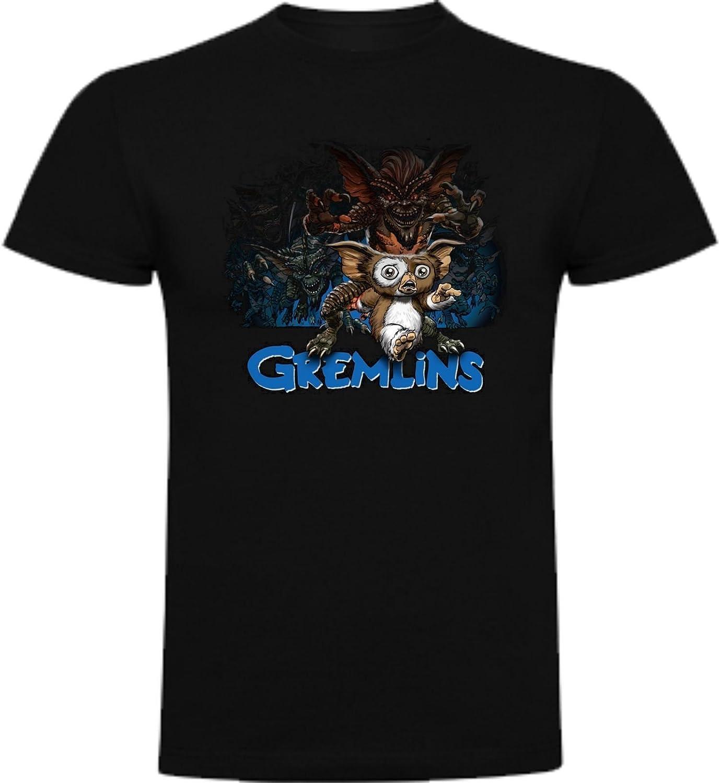 The Fan Tee Camiseta de Hombre Varios Peliculas Gremlins Gizmo Spielberg Terror Comedia Medianoche
