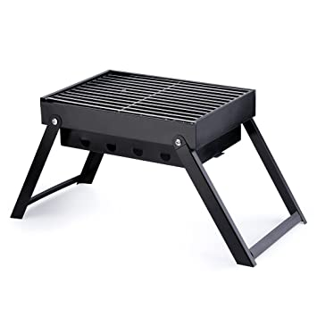 bingh otfire Carbón Vegetal Barbacoa ahumadora Portable Parrilla, Barbacoa Plegable Carro Outdoor Mesa barbacoas Picnic Barbacoa para jardín Camping Party ...