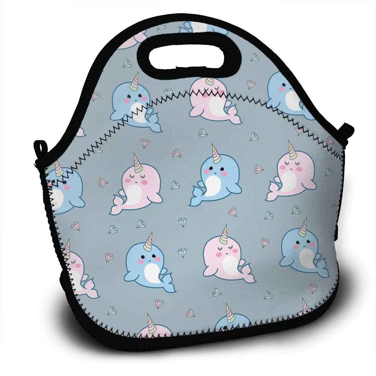 690e095ca9c0 Amazon.com - YyTiin Funny Whales Portable Carry Insulated Lunch Bag ...