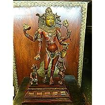 "Bhikshasthana Shiva Brass Statue Indian Art Yoga Decor Sculpture 12"""