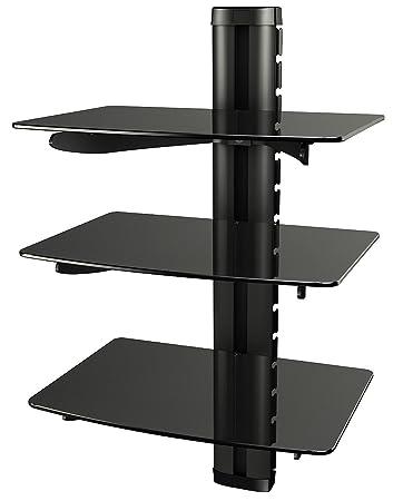 Ricoo Wandregal Tv Board Hifi Rack Glasregal Amazon De Elektronik