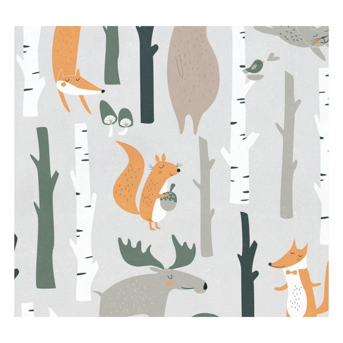 Ahomy Edelstahl-Thermosflasche mit s/ü/ßem Cartoon-Zweigen 500 ml Tier-Vogel-Motiv auslaufsicher