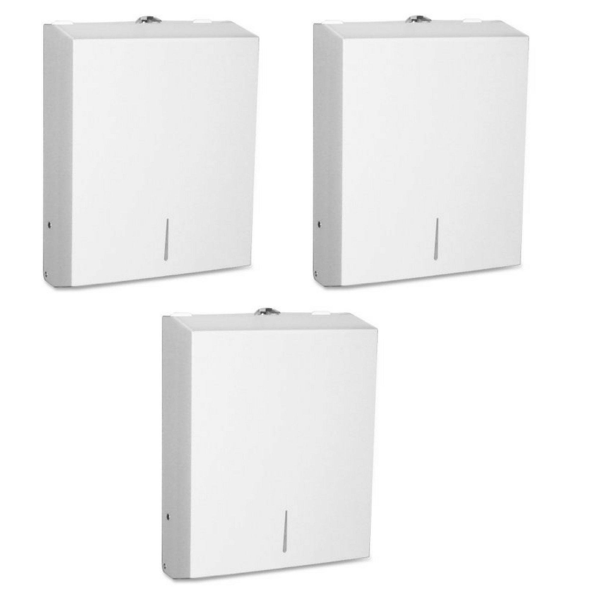 Genuine Joe C-Fold/Multi-fold Towel Disp. Cabinet - 3 Pack