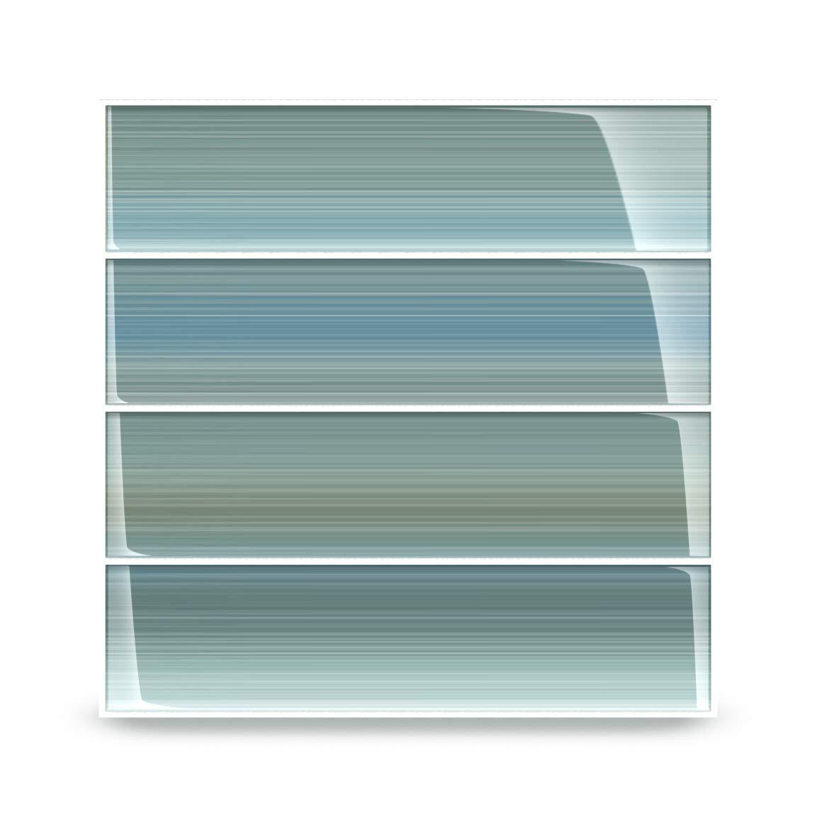 Bodesi Wintermoss Glass Subway Tile for Kitchen Backsplash or Bathroom, 3x12 by Bodesi - Mosaic and Glass Tile