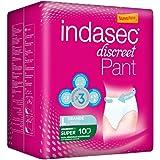 Indasec - Ropa interior absorbente, talla grande, absorción súper, 10 pants