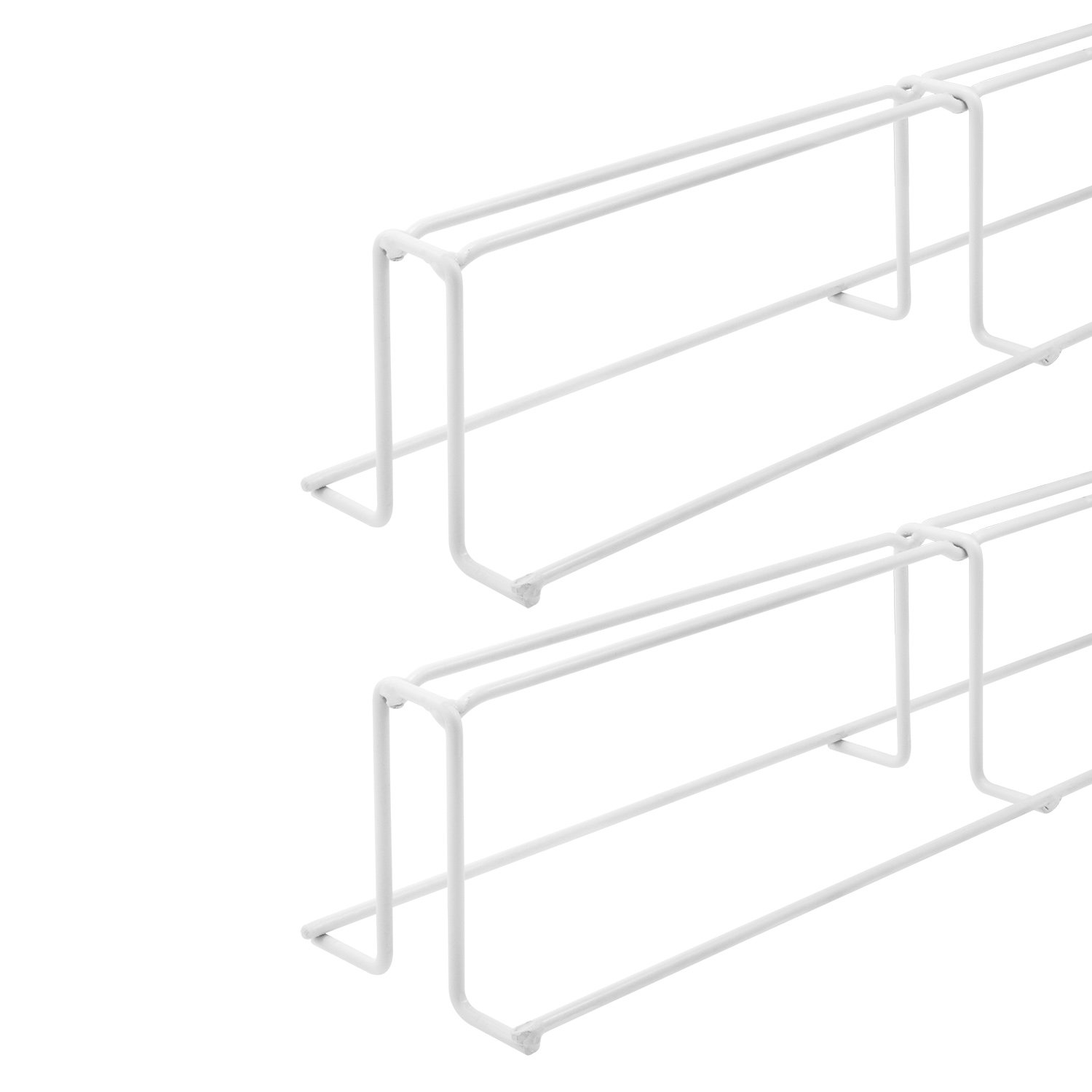 Garage Storage Rack System, Ceiling Mounted, White, 1 Set White Prime-Line Products KD 16090