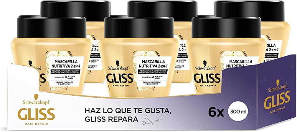 Gliss - Mascarilla Ultimate Oil Elixir – 6uds 300ml (1.800ml ...