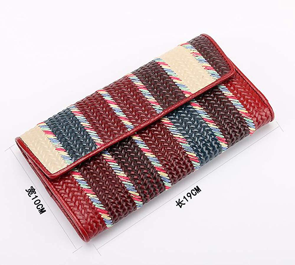Womens leather wallet,colorful color matching,clutch