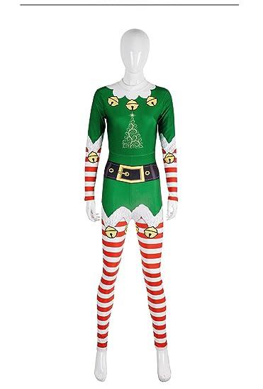 da172400d66 Amazon.com  JCH Christmas Occident Bell 3D Print Festival Event Party COS  Long Sleeve Jumpsuit Fabric Stage Performance Suit for Women Men (Color ...