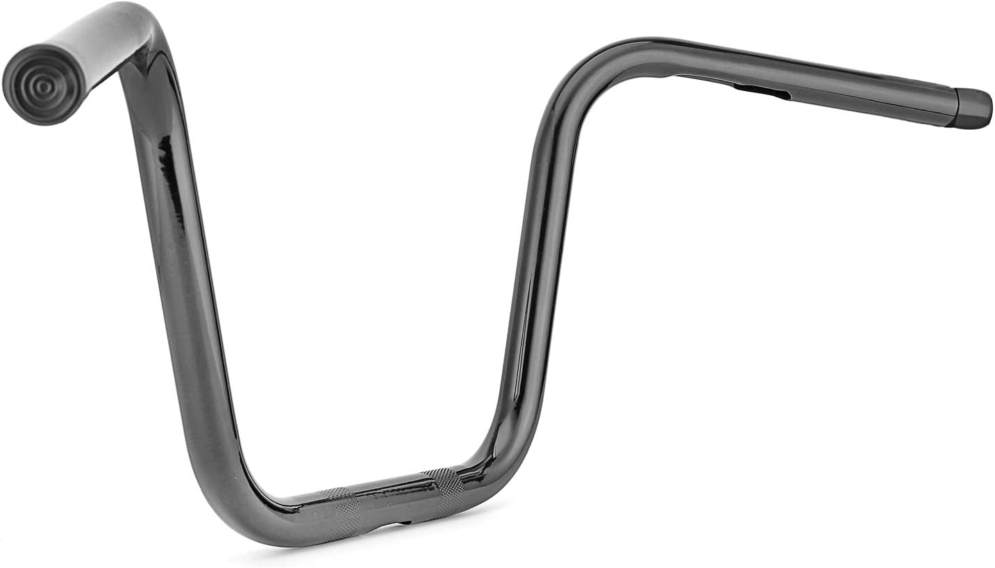 WSays Gloss Black 9 Rise Ape 1 Narrow Bar Seamless Pipe Chump Handlebar Compatible with Harley 2007-UP Sportster 2006-2017 DYNA Street Bob FXDB and 1996-2005 Dyna Wide Glide FXDWG