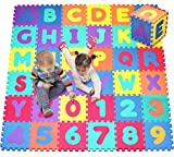 Click N' Play CNP0121 Foam Alphabet and Numbers Puzzle Play Mat, 36 Tiles (Tile Size-12x12