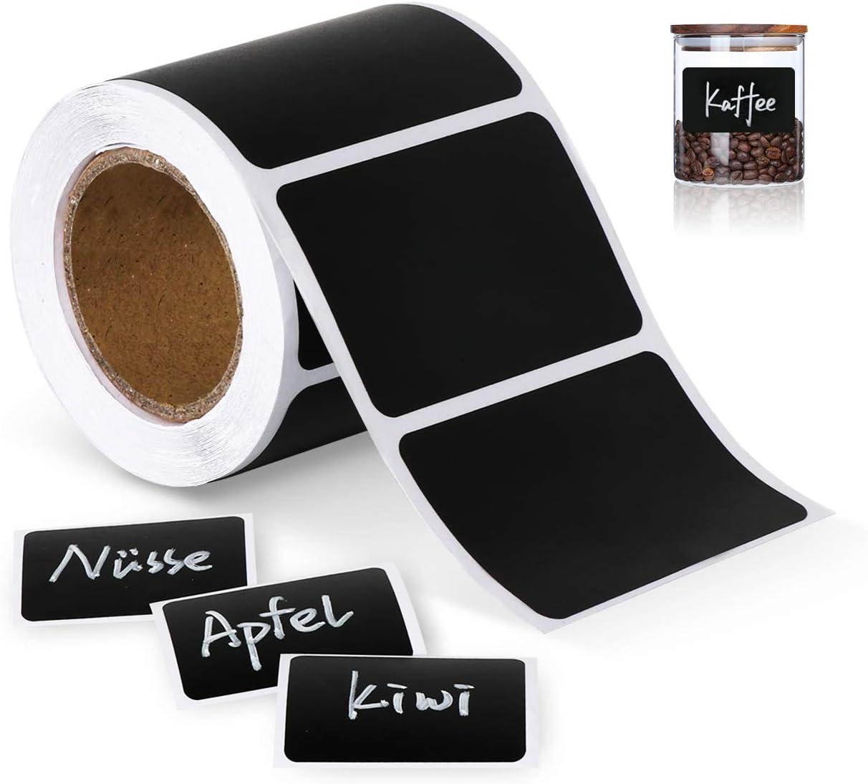 150x Chalkboard Blackboard Chalk Board Stickers Craft Kitchen Jar Labels Tags UK