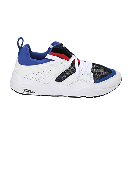 04ce2fa51a Puma Men s Blaze of Glory Streetblock White and Surf The Web Sneakers - 10  UK