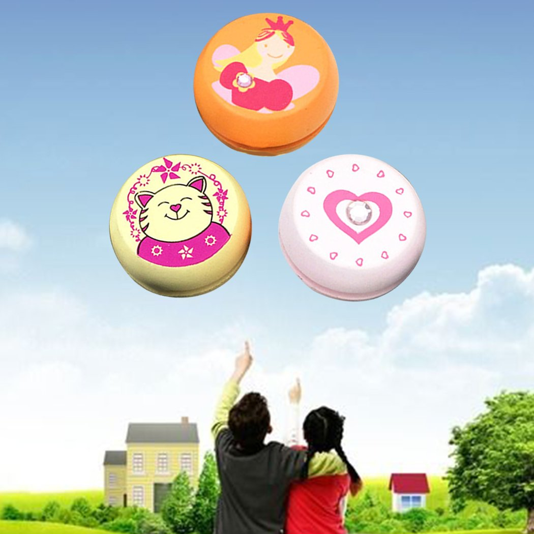 Fansport Kids Yoyo Cute Yoyo Ball Pattern Assorted Type Wooden Yoyo Toy for Party Gift