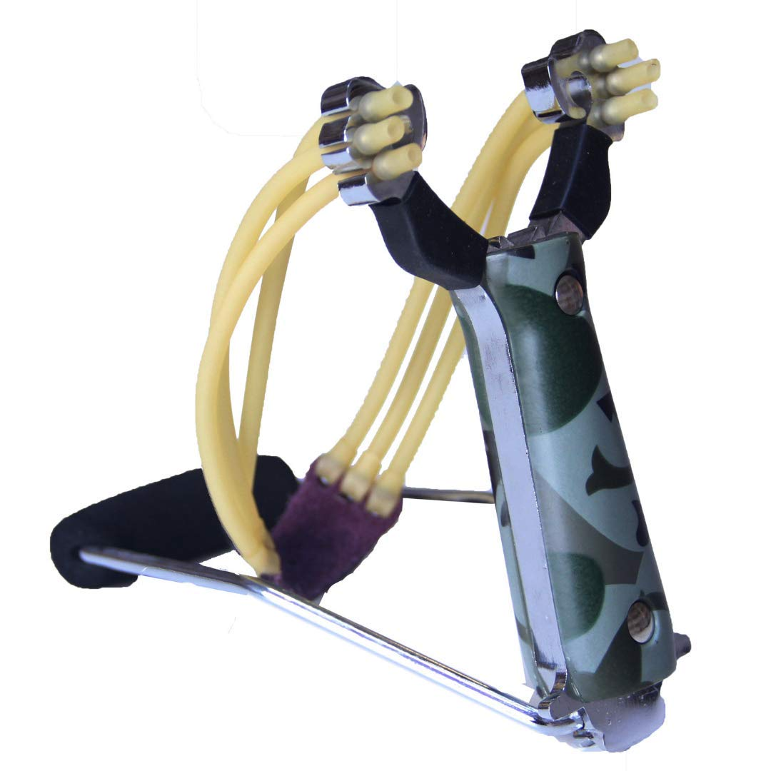 The Best Folding Slingshot, Hunting Slingshot High Velocity Catapult Slingshots, Outdoor Slingshots with Quality Rubber Bands  by RLucky. Order Yours Today