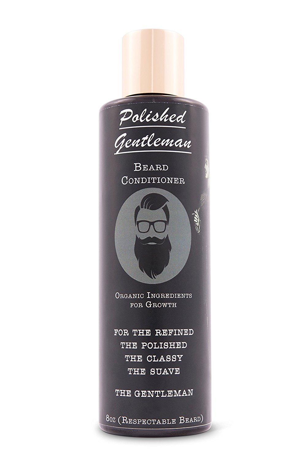 Polished Gentleman Beard Growth and Thickening Conditioner - With Organic Beard Oil - For Best Beard Look - For Facial Hair Growth - Beard Softener for Grooming