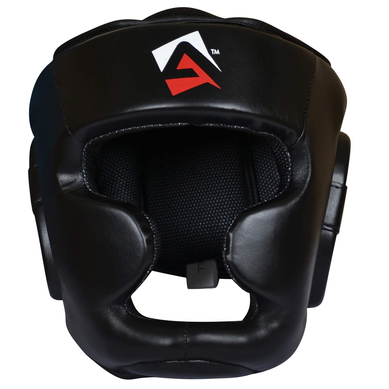 AQF Casco Boxeo para MMA Entrenamiento Casco Protector Muay Thai Kick Boxing Protecci/ón para Toda la Cara