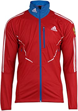 adidas Veste athlètes Gore Windstopper Team Russia Rouge
