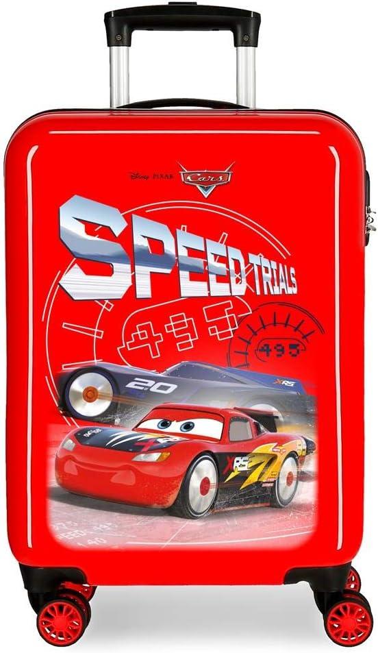 Disney Maleta de Cabina Cars Speed Trails rígida, Rojo, 38x55x20 cm