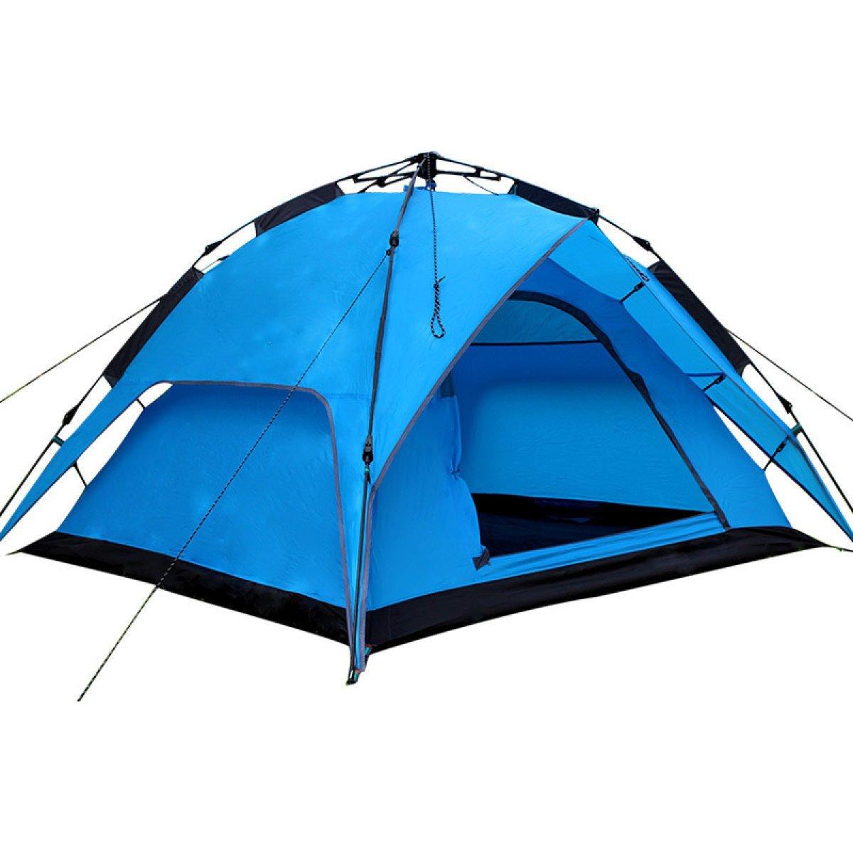 Freie Richten Sie Die Automatische Zelt 3-4 Personen,SapphireBlau-200200130cm