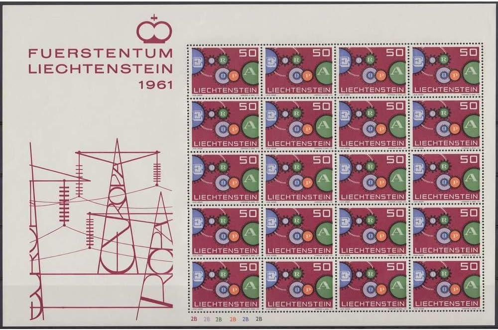 414 postfrisch ** CEPT 1961 Kleinbogen Briefmarken f/ür Sammler Goldhahn Liechtenstein Nr