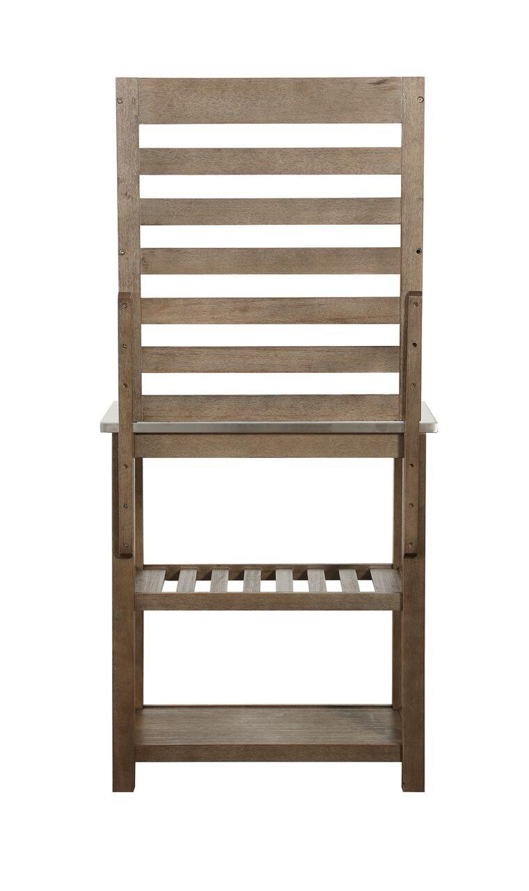 Boraam 12509 Wood & Stainless Steel Bakers Rack, One Size by Boraam (Image #2)