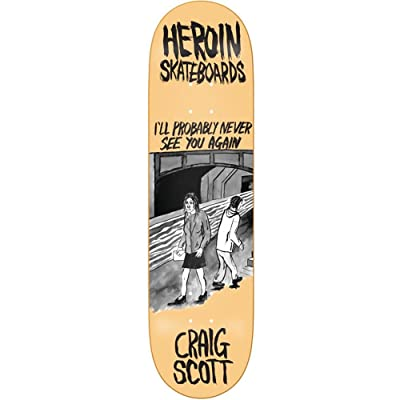 héroïne Skateboards Craig Questions Wordsmith Planche 21,4 cm