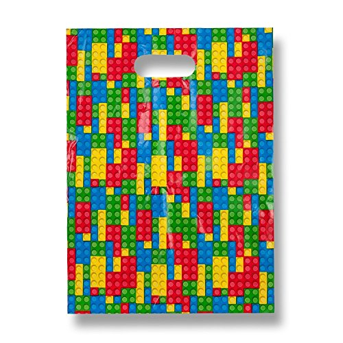 Gift Boutique Building Blocks Treat Bags - 48 Pack]()