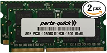 Kit Memory for Acer Aspire E1-731G DDR3L PC3L-12800 SODIMM RAM PARTS-QUICK Brand 16GB 2 X 8GB
