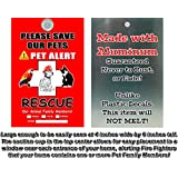 Aluminum Metal Pet Alert Fire Rescue - PLEASE SAVE OUR PETS! - Pet RESCUE Design - Made in and Ships from Cornwall, Ontario, Canada.