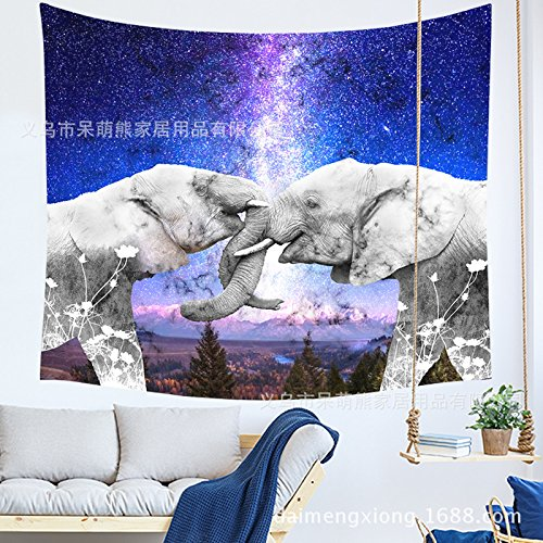- Tapestry Tapestries Decor Wall hanging Home Furnishing_Cartoon Elephant Hanging Tapestries Background Wall Tablecloth Yoga Beach Towel Home Furnishing, 210855,200150CM