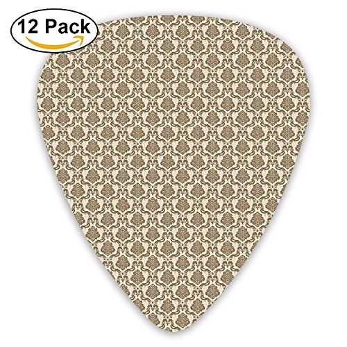 Newfood Ss Ornamental Symmetric Antique Motif With Classical Elements Baroque Swirls Curves Guitar Picks 12/Pack Set ()