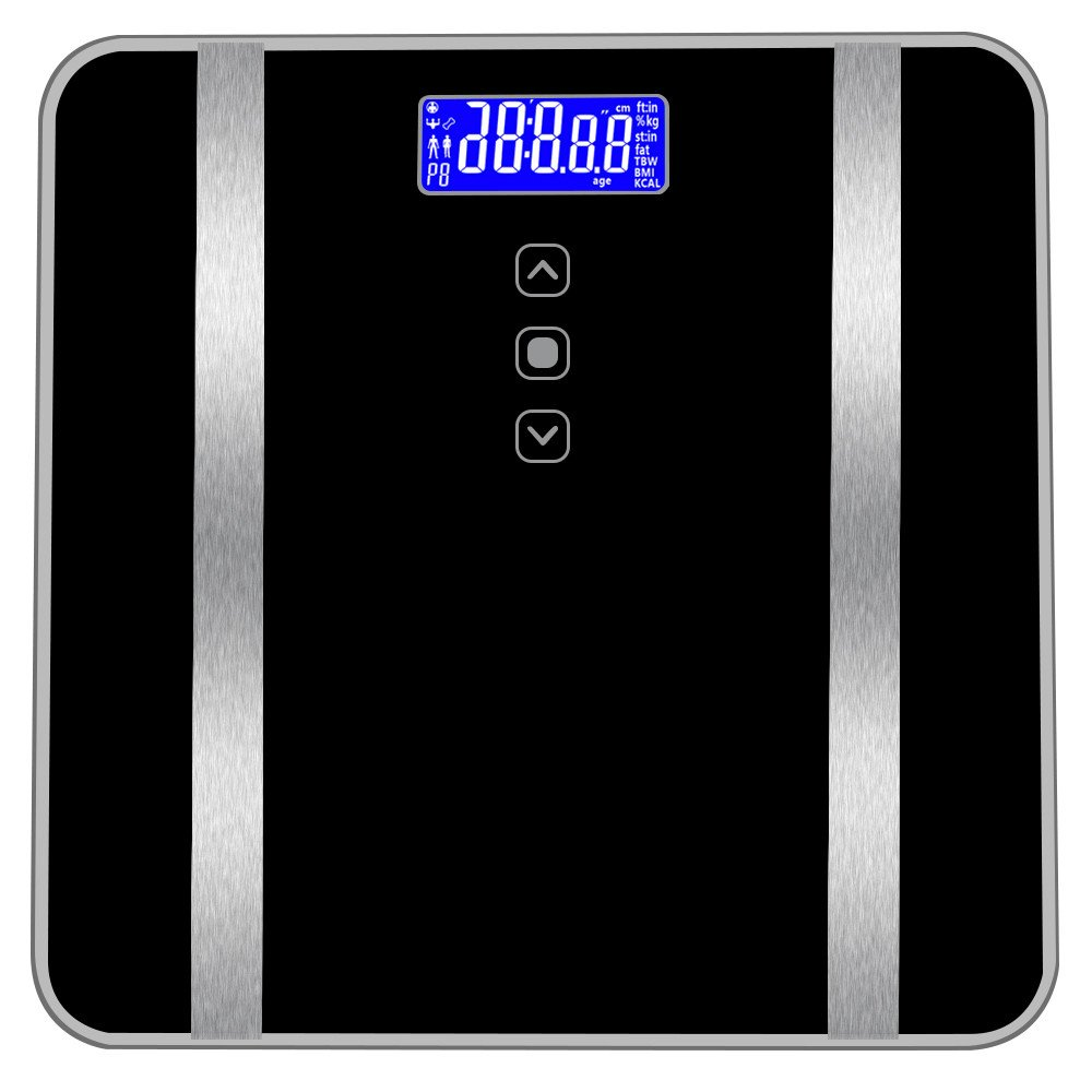 US Fast Shippment Shmei Accurate High-strength Tempered Glass Human Body Fat Scale Bathroom Seven Human Body Data 180KG/400 Pounds