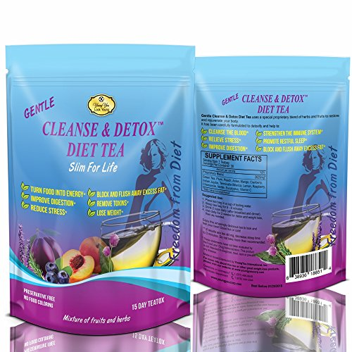 Detox Tea for Weight Loss – Colon Cleanser, Appetite Suppressant. Every Day Delicious Detox Tea for Flat Belly and Appetite Control. Diet Tea – 2 Packs.