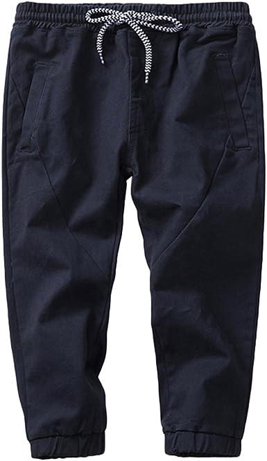 Yuncai Cinturon Elastico Pantalones Casuales Ninos Otono Algodon Pantalones Para Nino Amazon Es Ropa Y Accesorios