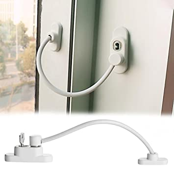 Coohole New 1pc Window Door Restrictor Child Baby Safety Security Cable Lock Catch Wire White  sc 1 st  Amazon.com & Amazon.com: Coohole New 1pc Window Door Restrictor Child Baby Safety ...