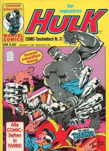 Der unglaubliche HULK Taschenbuch # 31 Condor Verlag (Der unglaubliche Hulk) Comic – 1991 B004X6VD5S Belletristik - Comic Cartoon