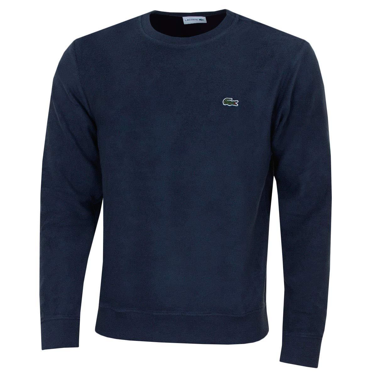 Lacoste Herren mit Rundhalsausschnitt Baumwolle Terry und Cashmere-Sweatshirt