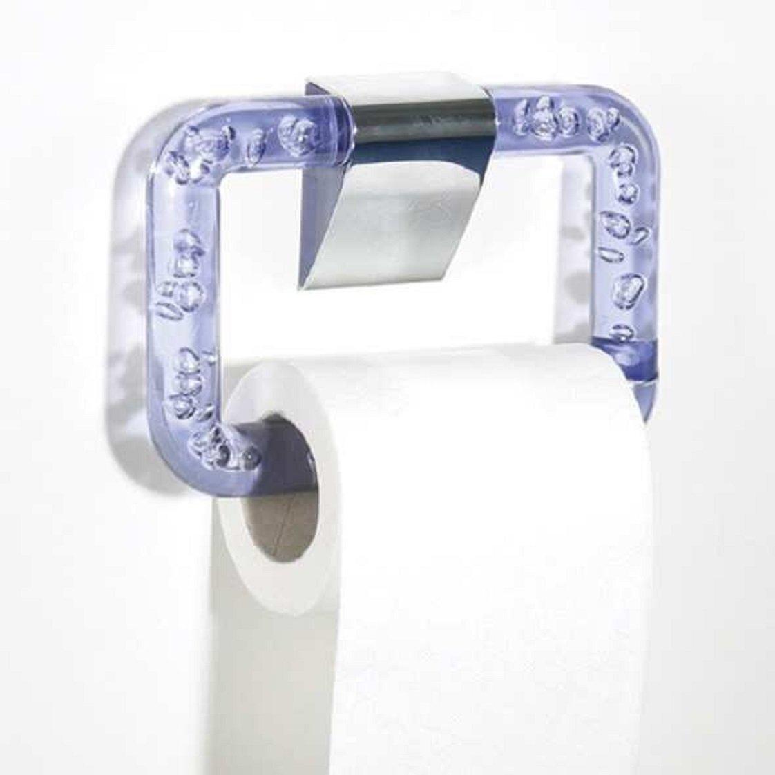 Papierhalter Rollenhalter Toilettenpapier Klopapierhalter WC Bad Lila Blau