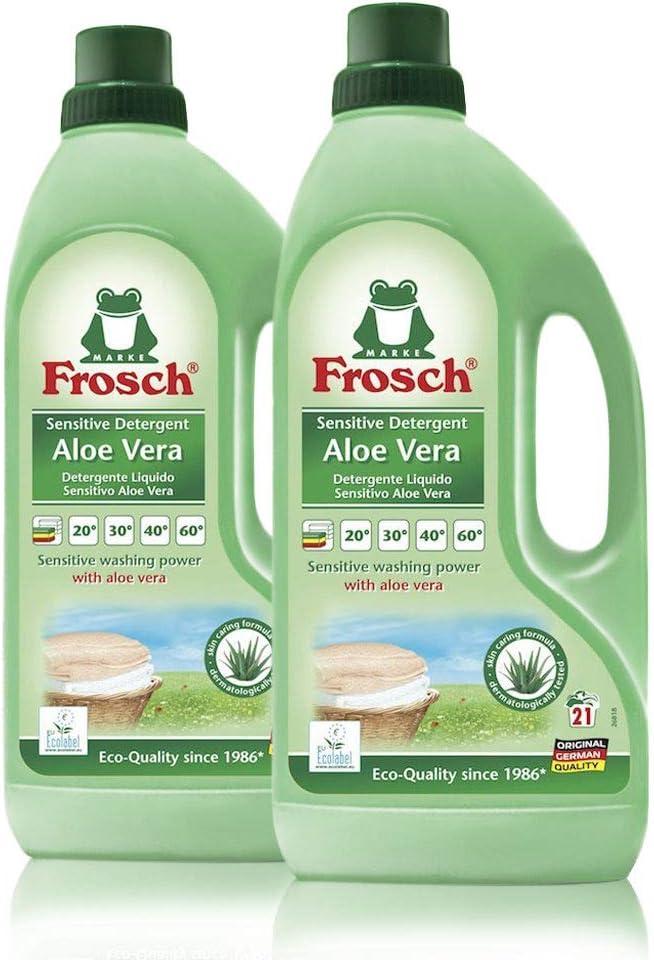 Frosch Natural Frosch Natural Liquid Laundry Detergent for Sensitive Skin, Aloe Vera, 50 fl oz (Pack of 2)
