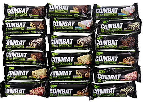 Muscle Pharm Combat Crunch #18 Variety Pack 18 Bars (2 of Each Flavor)