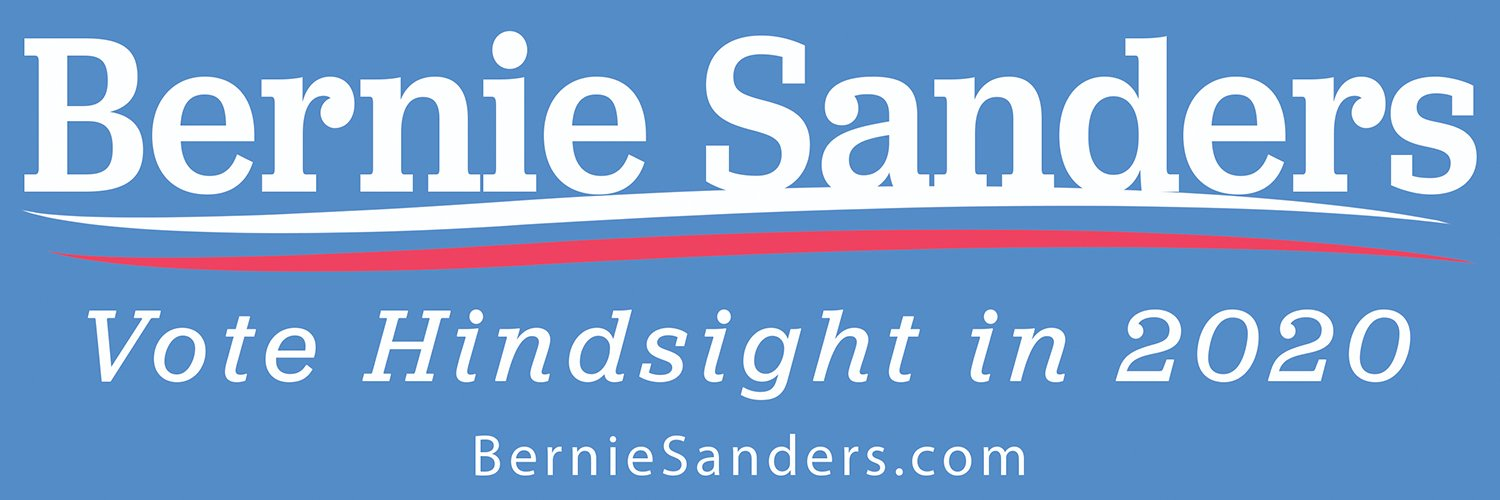 Bernie Sanders Vote Hindsight 2020 Bumper Sticker. Funny Election Adhesive Decal For the Progressive Candidate We Wish Won in 2016. Keep the Political Revolution Alive & Feel the Bern For 4 More Years