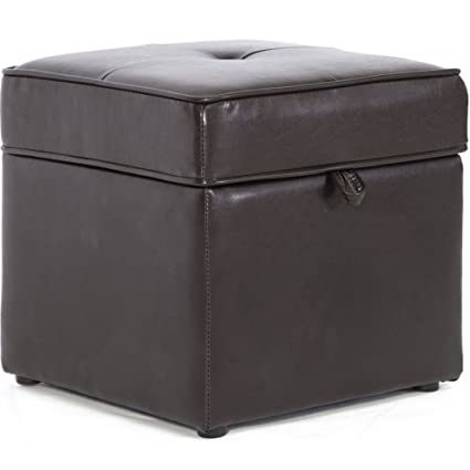 Complete with Storage Compartments and Soft Padd Faux Leather Storage Footstool