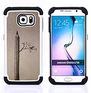 pencil drawing deep art meaning birds dual layer armor defender case for samsung