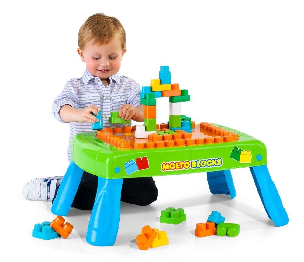 Molto Mesa con bloques piezas color azul y verde