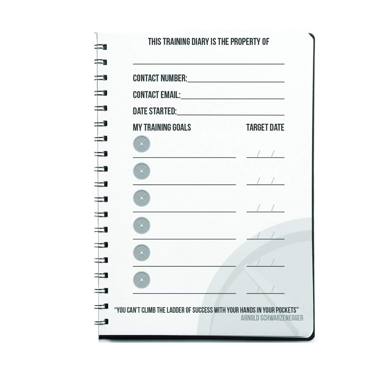 Workout Log Gym (Grey - Wire-Bound) – XL A5 Sized Training and Gym Diary -  Set Your Fitness Goals, Track 100 Workouts and Record Your Progress in