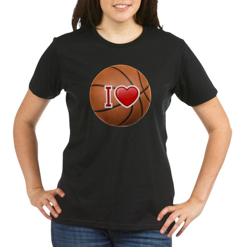 Royal Lion Organic T Shirt Drk I Love Basketball 6553