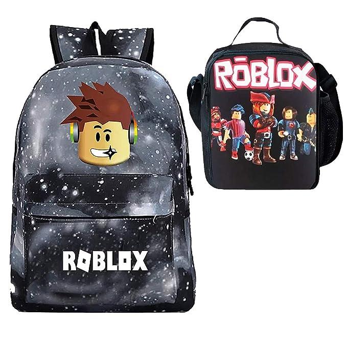 a10ae5540df6 Boy Girl Kid Roblox Backpack Insulated Lunch Box School Travel