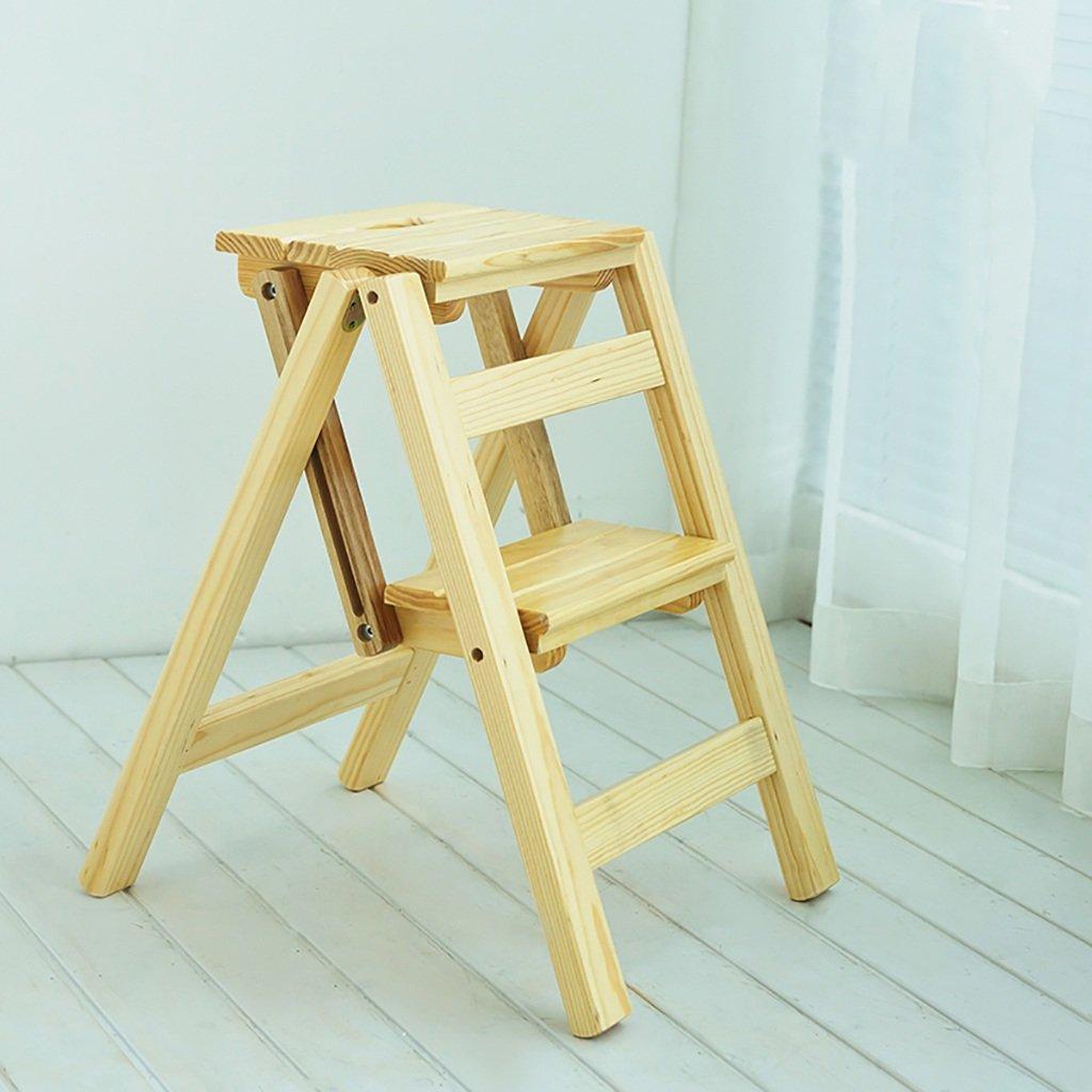 DNSJB ステップスツール木製の折り畳み階段の椅子家庭用はしご木製はしごはしご2段階多機能屋根の上に小さなはしご (Color : #3) B07TL6N2L8 #3