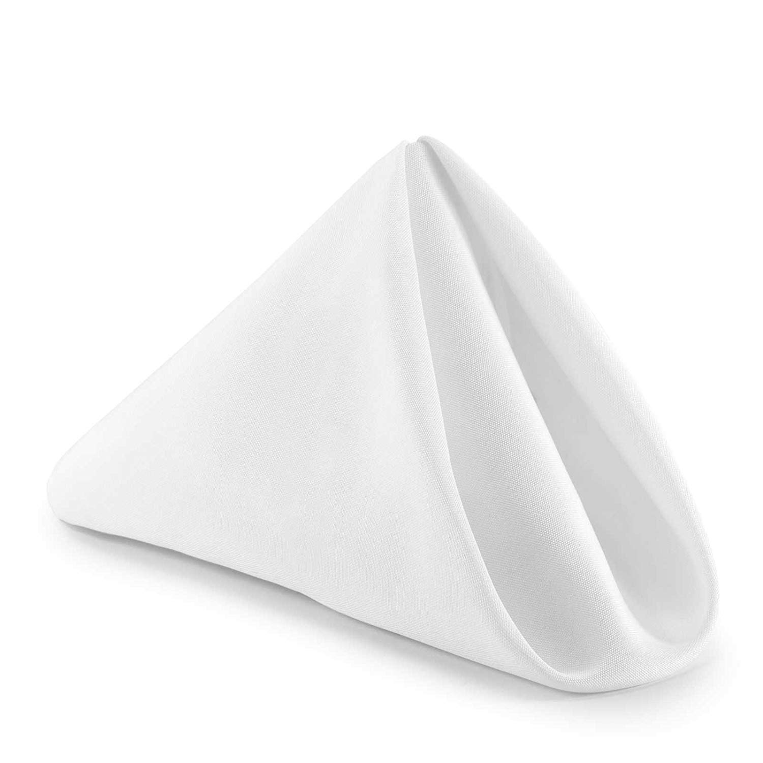 10 X 10 Inches Plain Printed Linen Kitchen Napkin 100/% Cotton Pack of 10 Dinner Napkins with Hemmed Edges,Cloth Napkins for Wedding,Parties White Solid